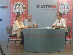 Με την Μαρία Κανελλοπούλου και τον Πέτρο Κατσάκο στην Web TV  του ΚΟΚΚΙΝΟΥ στο ιδρυτικό συνέδριο του ΣΥΡΙΖΑ