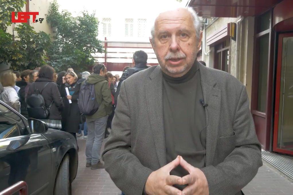 Διαμαρτυρία στο ΥΠ.ΠΟ για τα αρχαία του μετρό της Θεσσαλονίκης (βίντεο)