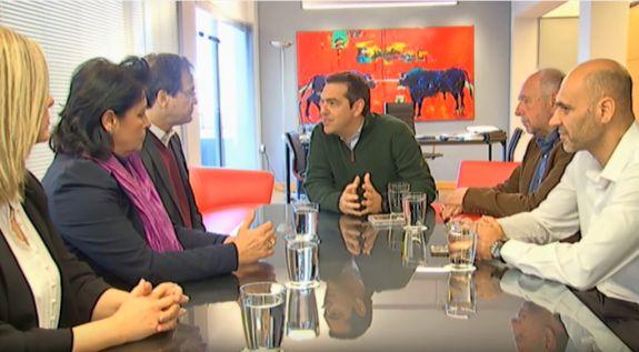 Συνάντηση του προέδρου του ΣΥΡΙΖΑ, Αλέξη Τσίπρα με τους δημιουργούς